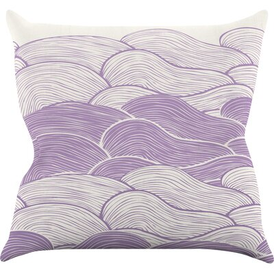 The Lavender Seas by Pom Graphic Waves Throw Pillow Size: 18 H x 18 W x 3 D