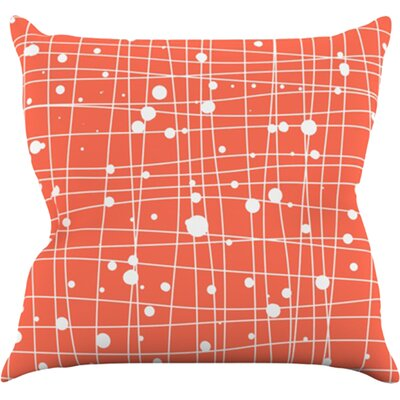 Woven Web Cotton Throw Pillow