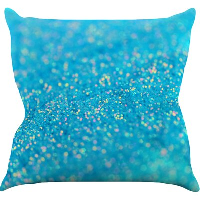 Mermaid Sparkles by Beth Engel Throw Pillow Size: 16 H x 16 W x 1 D