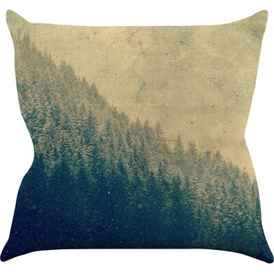 Any Road Will Do by Robin Dickinson Mountain Tree Throw Pillow Size: 26 H x 26 W x 5 D