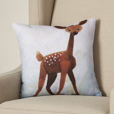 Oh Deer Throw Pillow Size: 16 H x 16 W