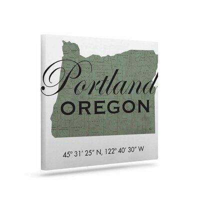 Food 'Portland Coordinates' Textual Art on Canvas URBH2462 38195090
