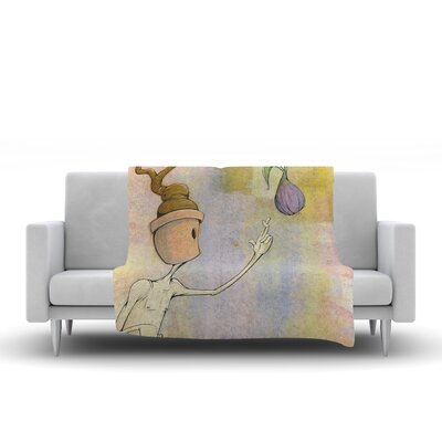 Fruit by Matthew Reid Fleece Throw Blanket Size: 80 H x 60 W x 1 D