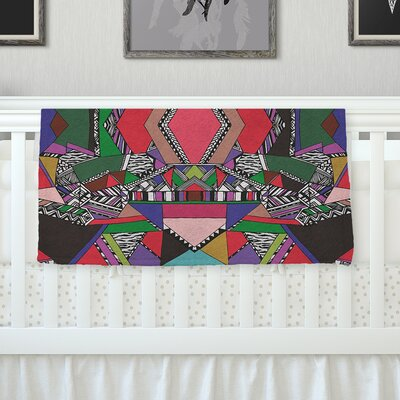 African Motif Throw Blanket Size: 40 L x 30 W