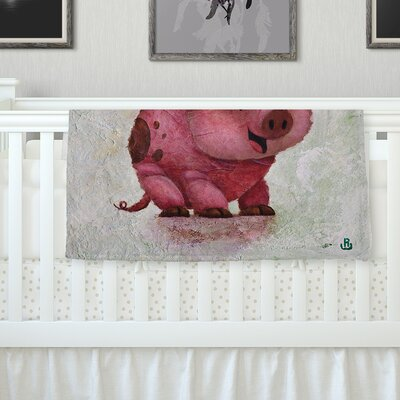 This Little Piggy Throw Blanket Size: 40 L x 30 W