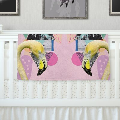 Flamingo Tropical Throw Blanket Size: 80 L x 60 W
