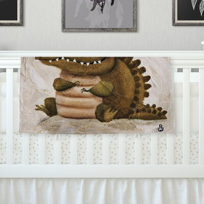 Smiley Crocodiley Throw Blanket Size: 40 L x 30 W