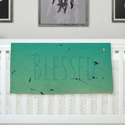 Blessed Throw Blanket Size: 40 L x 30 W
