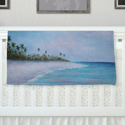 Carefree Caribbean Throw Blanket Size: 40 L x 30 W