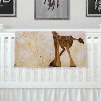 Georgey The Giraffe Throw Blanket Size: 80 L x 60 W
