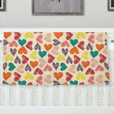 Little Hearts Throw Blanket Size: 90 L x 90 W