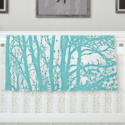 Mint Trees Throw Blanket Size: 80 L x 60 W