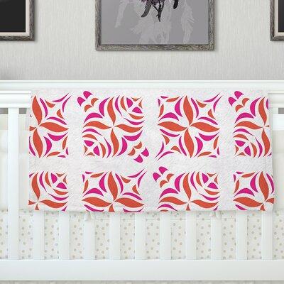 Orange Oasis Throw Blanket Size: 40 L x 30 W