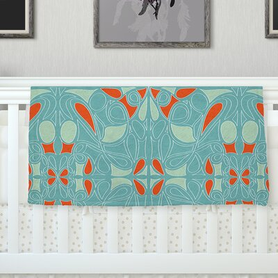 Seafoam and Orange Throw Blanket Size: 60 L x 50 W