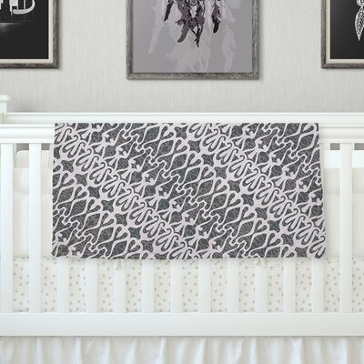 Silver Lace Throw Blanket Size: 80 L x 60 W