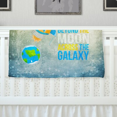 Explore The Stars Throw Blanket Size: 90 L x 90 W