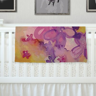 Dissolved Flowers Throw Blanket Size: 80 L x 60 W
