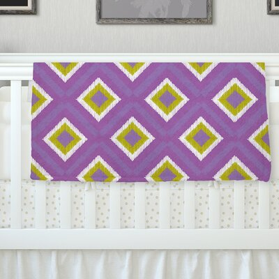 Purple Splash Tile Throw Blanket Size: 80 L x 60 W