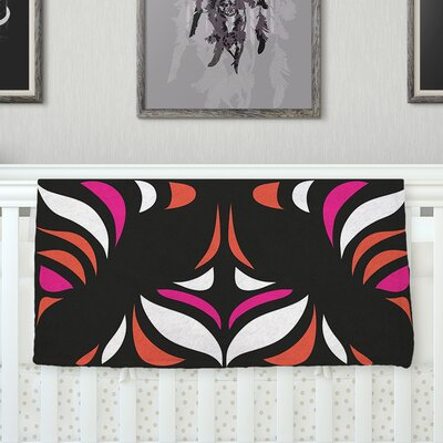 Magenta Orange Hawaiian Retro Throw Blanket Size: 80 L x 60 W