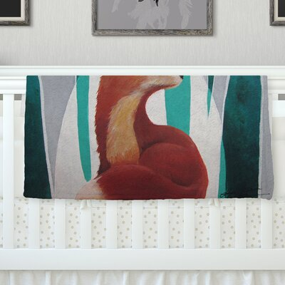 Fox Forest Throw Blanket Size: 40 L x 30 W