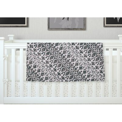 Silver Lace Throw Blanket Size: 60 L x 50 W