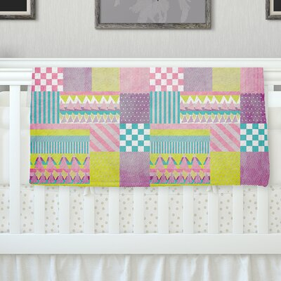 Patchwork Throw Blanket Size: 40 L x 30 W