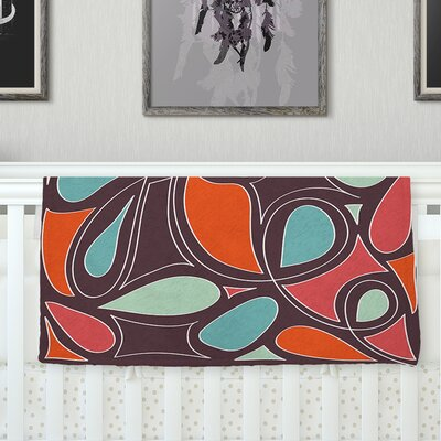 Retro Swirl Throw Blanket Size: 40 L x 30 W
