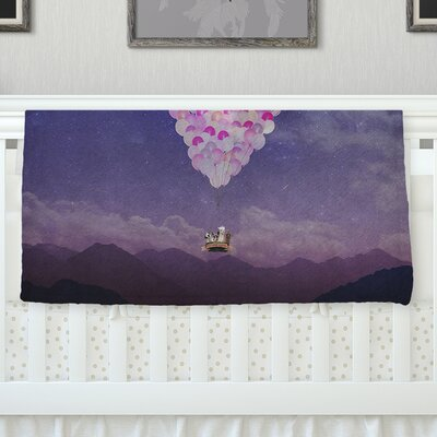 Never Stop Exploring IV Throw Blanket Size: 80 L x 60 W