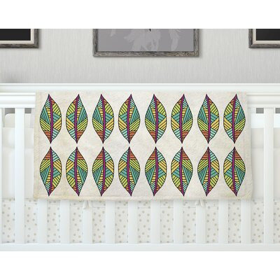 Tribal Leaves Throw Blanket Size: 60 L x 50 W