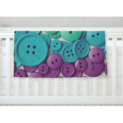 Cute As A Button Throw Blanket Size: 60 L x 50 W