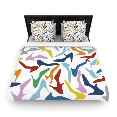 Shoe Mint by Project M Duvet Cover Size: Twin, Fabric: Woven Polyester