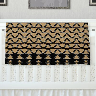 Deco Angles Gold Black Throw Blanket Size: 80 L x 60 W