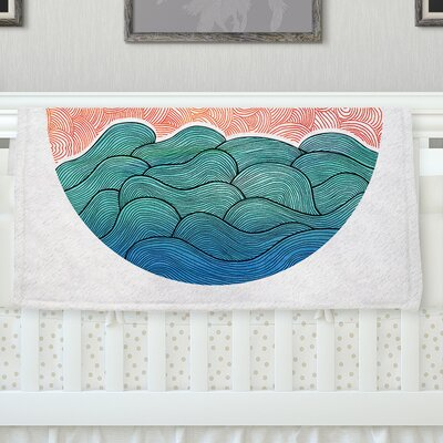 Ocean Flow Throw Blanket Size: 80 L x 60 W