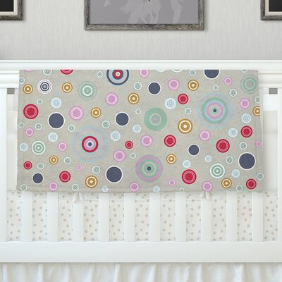 Circle Circle I by Suzanne Carter Fleece Throw Blanket Size: 60 H x 50 W x 1 D