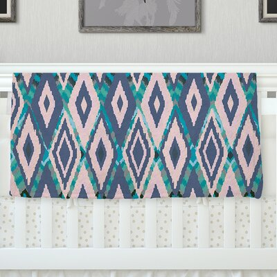 Tribal Ikat Fleece Throw Blanket Size: 80 H x 60 W