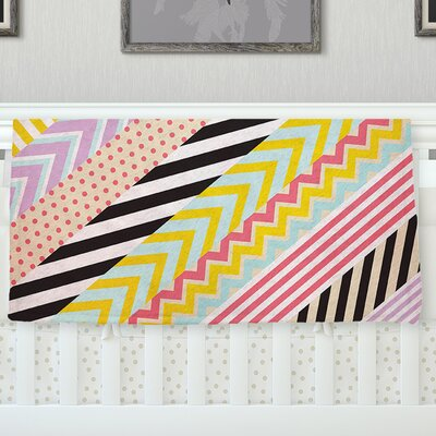 Diagonal Tape by Louise Machado Fleece Throw Blanket Size: 90 H x 90 W x 1 D