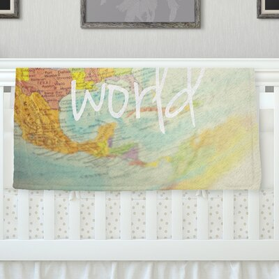 What A Wonderful World Throw Blanket Size: 80 L x 60 W