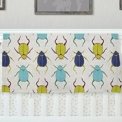 Beetles Throw Blanket Size: 90 L x 90 W
