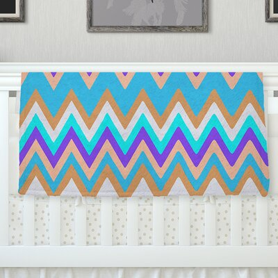 Girly Surf Chevron Fleece Throw Blanket Size: 60 L x 50 W