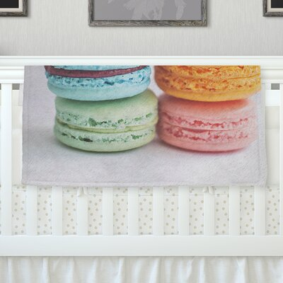 I Love Macaroons Throw Blanket Size: 40 L x 30 W