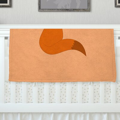 Fox Fleece Throw Blanket Size: 60 L x 50 W