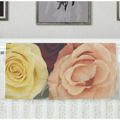 Vintage Roses Throw Blanket Size: 80 L x 60 W