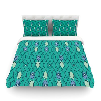 Suncoast Emerald by Allison Beilke Featherweight Duvet Cover Size: Queen, Fabric: Lightweight Polyester