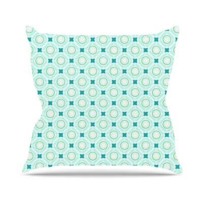 Tossing Pennies I by Catherine McDonald Outdoor Throw Pillow Color: Teal