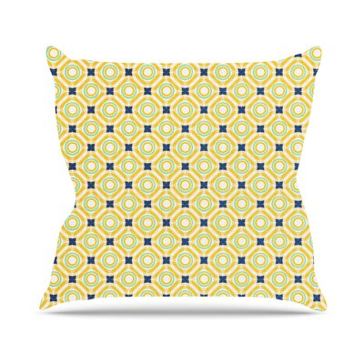 Tossing Pennies I by Catherine McDonald Outdoor Throw Pillow Color: Yellow