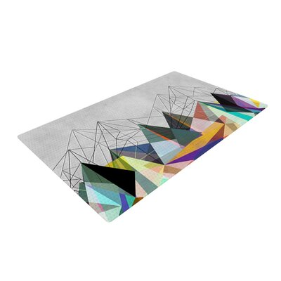Colorflash 3X  Gray Rainbow Area Rug Rug Size: 4 x 6
