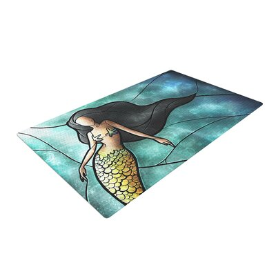 Mermaid Area Rug Rug Size: 4 x 6