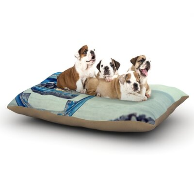 Robin Dickinson Way Out There Ocean Dog Pillow with Fleece Cozy Top Size: Large (50 W x 40 D x 8 H)