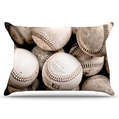 Debbra Obertanec On The Mound Baseball Pillow Case