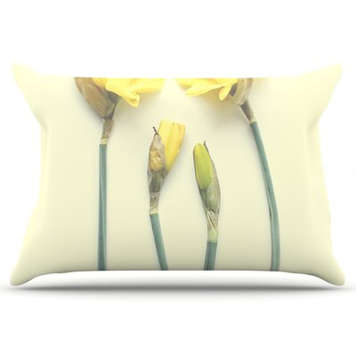 Debbra Obertanec Springtime Yellow Tulip Pillow Case